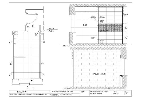 Foto progetto esecutivo appartamento roma via lizzani di for Progetto di una casa