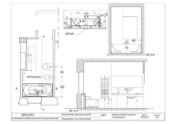 Foto progetto esecutivo appartamento roma via lizzani di for Progetto casa interni