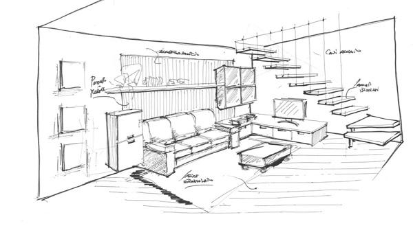 Foto progetto scale sospese di arredatrice di interni 543210 habitissimo - Progettare scala interna ...