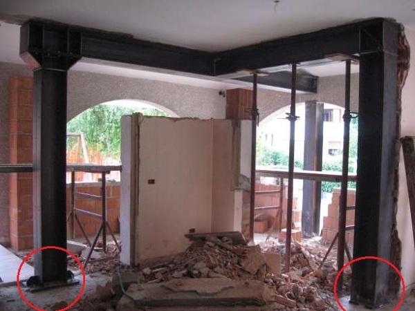 Foto realizzaione di apertura vani su muratura di impresa - Aprire una porta in un muro non portante ...