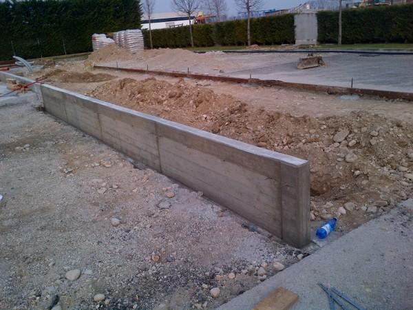 Vasca Da Lavare In Cemento : Foto realizzazione muro in cemento armato di m struzioni