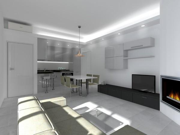 Foto: Render Soggiorno e Angolo Cottura di 2p+m Architetti ...