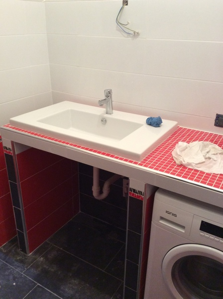 Foto ripiano in muratura di d p edilizia generale 330020 habitissimo - Cucine con lavatrice ...