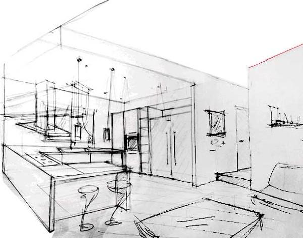 Foto schizzo ambiente cucina di dario pernice architetto for Progetto cucina online gratis