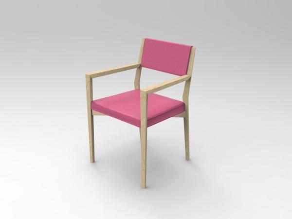 Sedie In Legno Con Braccioli : Foto: sedia in legno con braccioli imbottitura in memory corallo