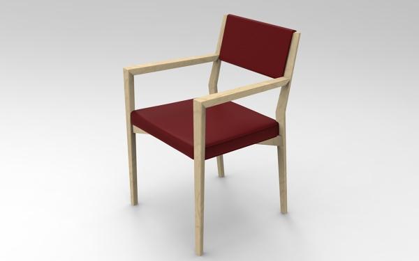 Sedie In Legno Con Braccioli : Foto sedia in legno con braccioli imbottitura in memory rossa