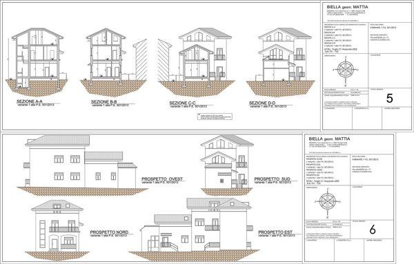 Foto sezioni e prospetti di geom mattia biella 254536 for Progetto ristrutturazione casa gratis