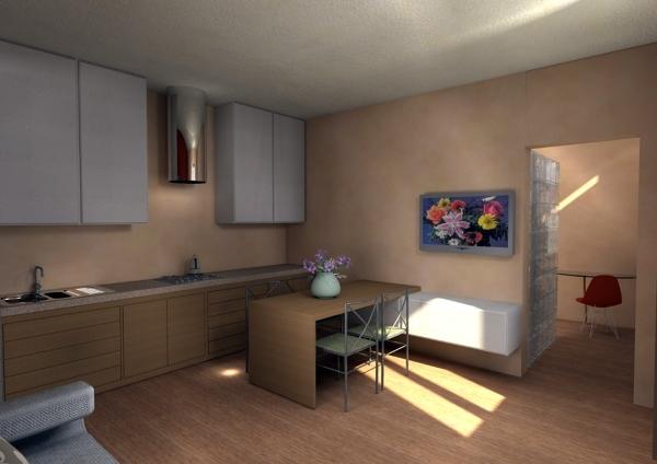 Foto soggiorno con cucina a vista di impresa edile tincu for Soggiorno con cucina a vista