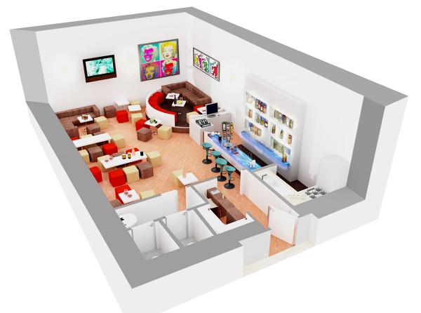 Foto spaccato assonometrico di progetto di cicubo for Esempi di piani di casa