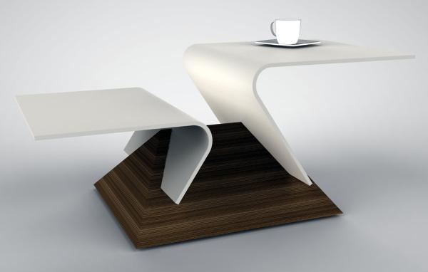Foto: Tavolino da Caffè \'Virgola\' Piani di DuPont™ Corian® di Arco ...