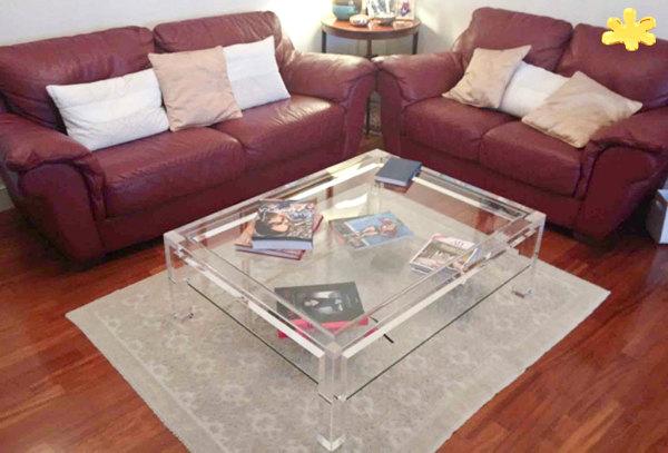 Tavolini Da Salotto Plexiglass.Foto Tavolino Da Salotto Con Ripiano In Plexiglass Di Eldorado