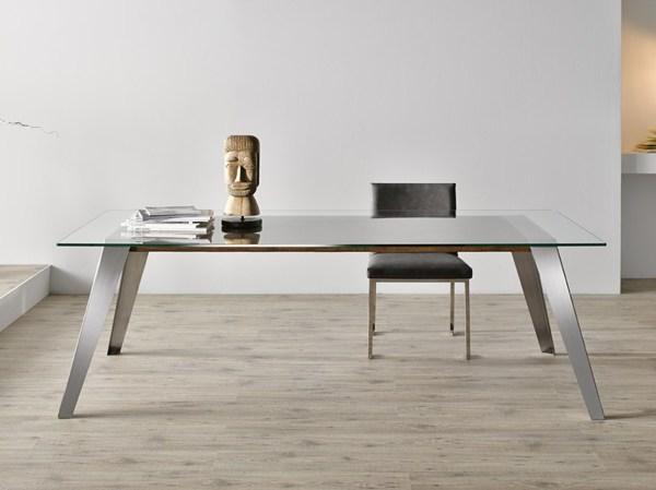Foto tavolo acciaio inox vetro di rimoldi costruzioni for Arredo inox crotone