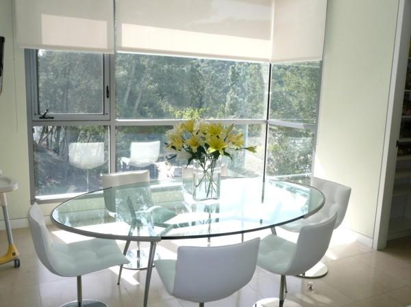 Foto tavolo di vetro e metallo di marilisa dones 390027 for Tavolo ovale in vetro allungabile