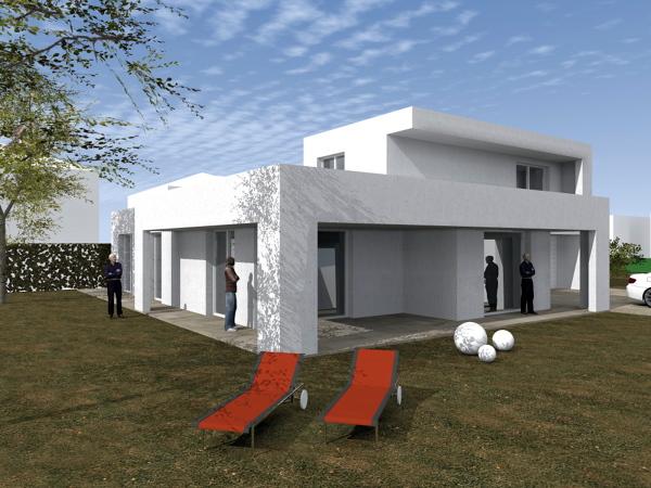 Foto villa unifamilare moderna classe a di stilenatura for Galleria di foto di casa moderna