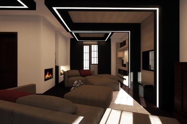 Foto sala soggiorno ristrutturazione studioayd torino de - Paneles decorativos para techos ...
