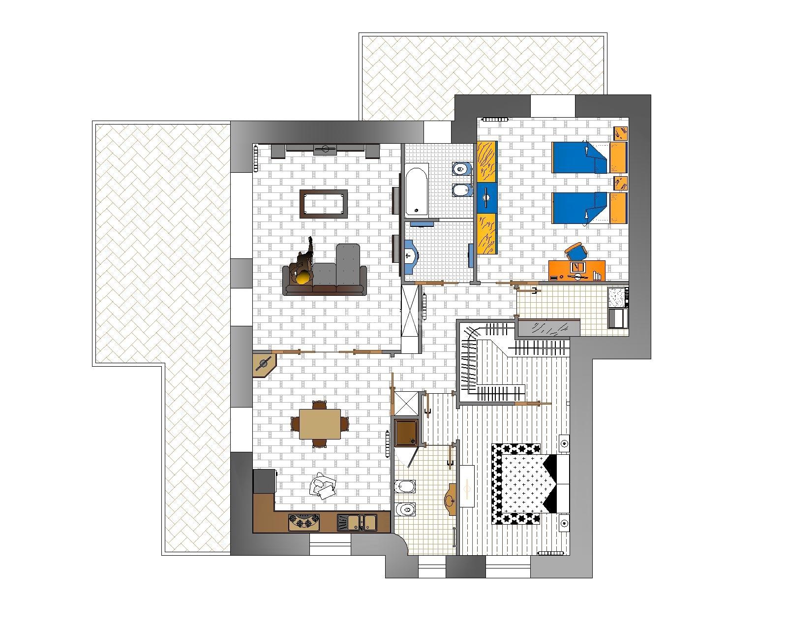 Progetti ristrutturazioni appartamenti progetti for Progetti mini appartamenti