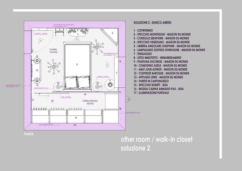 Progetto Camera da Letto con Cabina Armadio (2)  Idee Interior ...