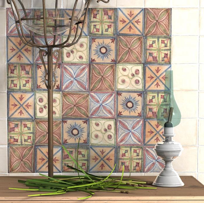 Come arredare una cucina con piastrelle etniche idee for Azulejos artesanales