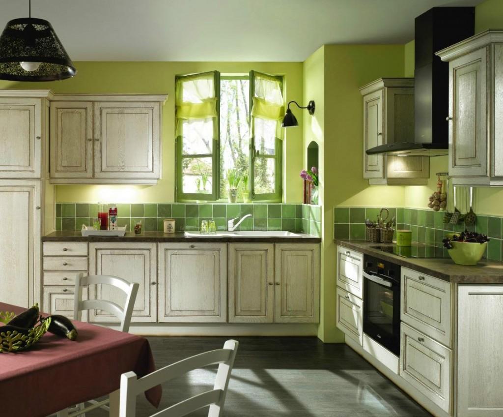 Come Arredare una Cucina Rustica di Colore Verde Idee Interior ...