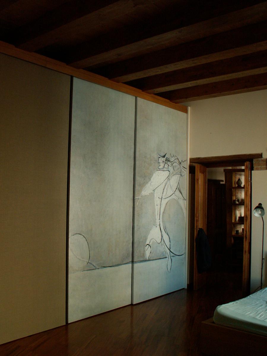 Progetto ristrutturazione di appartamento in edificio - Progetto camera da letto con cabina armadio ...
