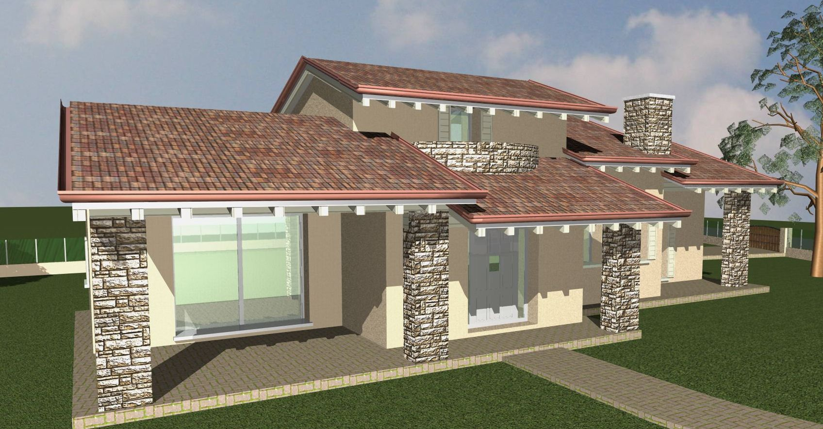 Progetto fabbricato unifamiliare progetti costruzione case for Ville bifamiliari moderne