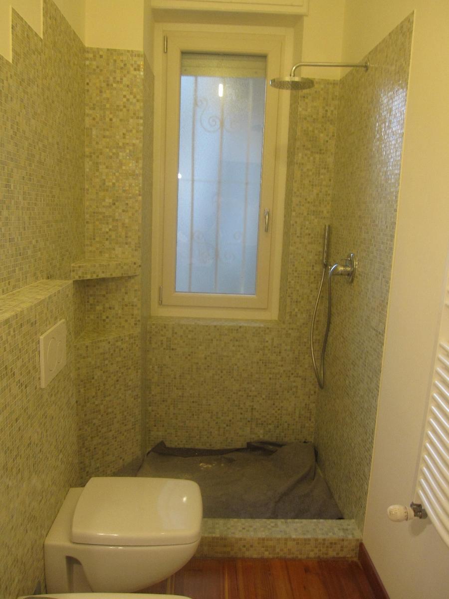 Progetto bagno con mosaico bisazza e piatto doccia filo pavimento 3g snc ristrutturazione - Doccia a pavimento mosaico ...