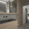 Bagno marmo e legno