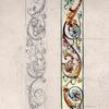 Bozzetto preparatorio per la nicchia ( disegno in scala ad acquerello).