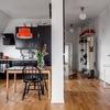 cucina e corridoio funzionale