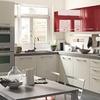cucina rossa e bianca
