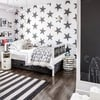 decorazione parete con stelle