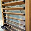 Dettaglio stecche orientabili in alluminio