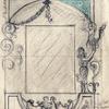 Disegno per bozzetto cornice 'a grottesca'