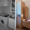 Il bagno-lavanderia al piano terra