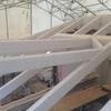 Il nuovo tetto in lamellare sbiancato