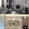 Il soggiorno prima e dopo