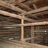 L'interno del fienile prima della ristrutturazione
