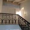 La scala che accede al sottotetto dopo i lavori.