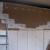 Foto: Laccatura armadio con decorazione geometrica