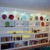 Libreria in cartongesso decorata