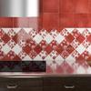 piastrelle in ceramica decorata rossa
