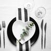 Posto tavola bianco e nero