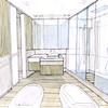 Progetto bagno piano terzo vista interna.