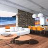 Rendering Progetto Arredo zona divani