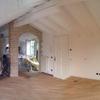 Fase di lamatura e conclusione pitturazione sottotetto