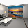 tenda verticale con stampa digitale, tramonto