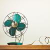 ventilatore vintage verde