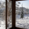 Vista dal giardino d'inverno