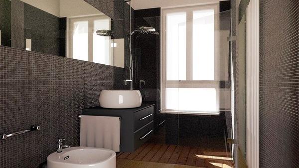 Mobili per bagno retro design casa creativa e mobili for Doccia bagno piccolo