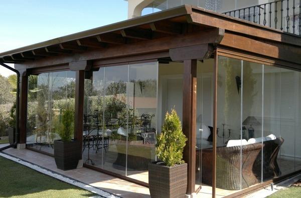 pergolati in legno con copertura vetro : Domande sul progetto Goditi la terrazza senza il fastidio del sole ...